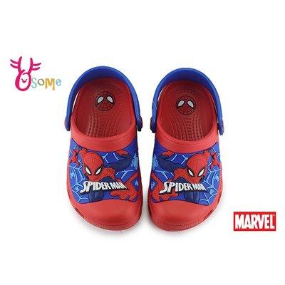 MARVEL蜘蛛人 中童 防水布希鞋 園丁鞋 洞洞鞋 MIT 台灣製 正版授權 I5553#紅色 OSOME奧森鞋業