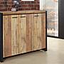 貝瑟尼4尺厚切木紋工業風開門鞋櫃/ 收納櫃/ 置...