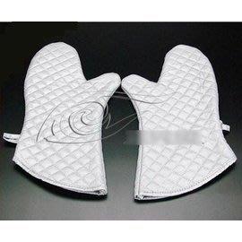 【隔熱手套-優質棉-銀色-小號】高級銀色微波爐手套 優質棉隔熱手套(小號:25*15cm)2只/包-8001001