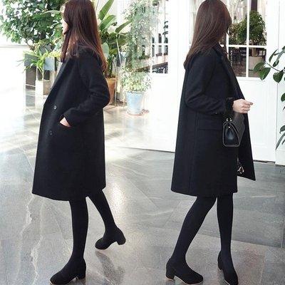 毛呢外套女中長款韓版2018流行新款學...