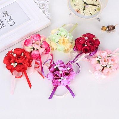 浪漫玫瑰手腕花  韓風新娘伴娘花童手腕花~婚禮小物