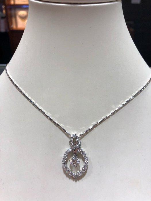 1.61克拉天然鑽石項鍊,高等級鑽石,超閃超亮,厚金墜台設計,華麗大氣,超值優惠價96800,可換GIA鑽石