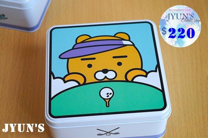 JYUN'S 新品kakao friends 可愛RYAN 獅子實用鐵盒子馬口盒鐵藝翻蓋盒子收納盒 1款 現貨