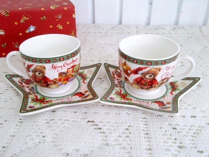 蘇菲亞精品傢飾~ 義大利聖誕節義式咖啡杯/特價促銷