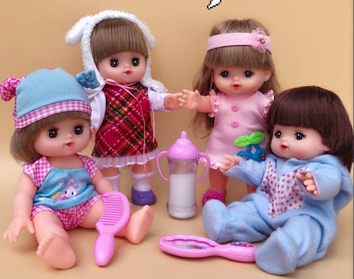 【小黑妞】小美樂.巧虎妹妹小花等30公分娃娃等配件-小美樂花朵鏡子+梳子組(不含娃娃)【現貨】
