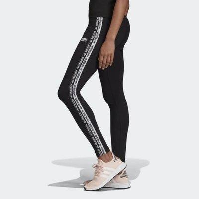 ADIDAS 黑色 黑白 串標LOGO 愛迪達 運動休閒 慢跑 瑜珈 內搭褲 緊身 長褲 EC0750 請先詢問庫存