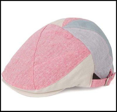 【型男衣櫥】春夏純棉新帽子韓版拼色撞色時尚嘻哈男女遮陽清涼透氣畫家貝雷帽