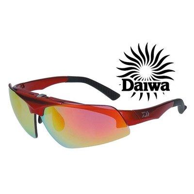 DAIWA 新款眼鏡 可掀式偏光眼鏡 DN-42909R 紅