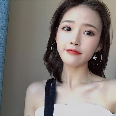 不對稱耳釘星辰繫耳飾韓國鋯石氣質簡約幾何耳環R969