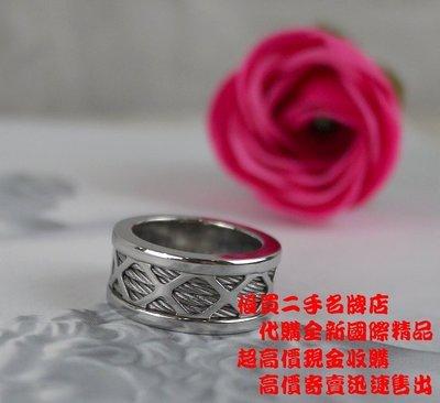☆優買二手名牌店☆ CHARRIOL 夏利豪 夏力豪 夏立豪 限量 菱格 不銹鋼 鋼索 戒 戒子 戒指