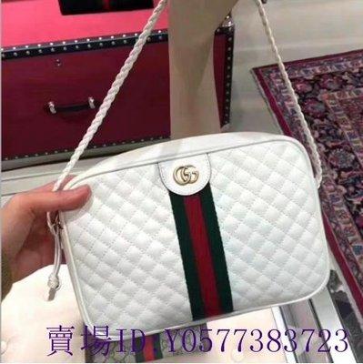 【喜番二手正品】Gucci 古馳 Quilted leather 小香小菱格紋 白色 小款方型包 相機包 541051