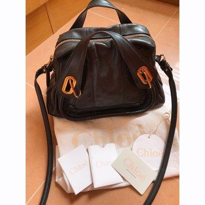 Chloe paraty navy blue small leather shoulder bag handbag 95%新意大利名牌真皮手袋 側揹袋 手挽袋