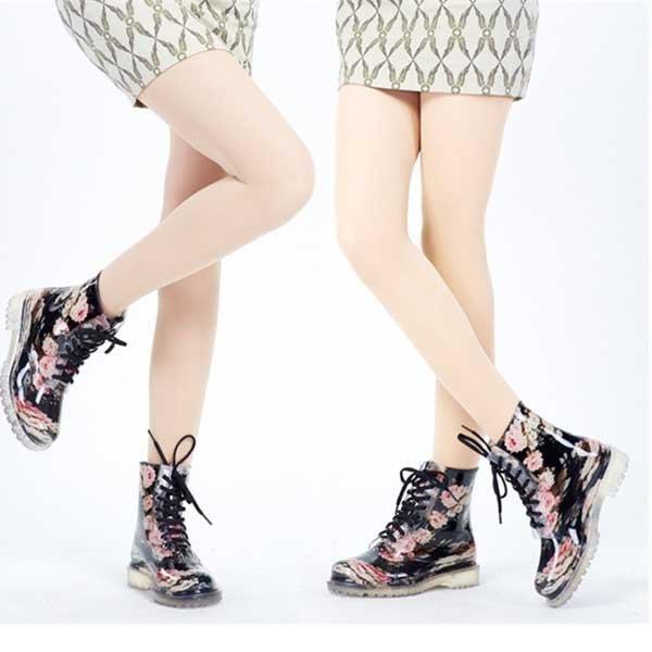 5Cgo【鴿樓】會員有優惠  43856727713 春夏韓版女士碎花馬丁雨鞋 透明雨靴 時尚水鞋套鞋 雨靴
