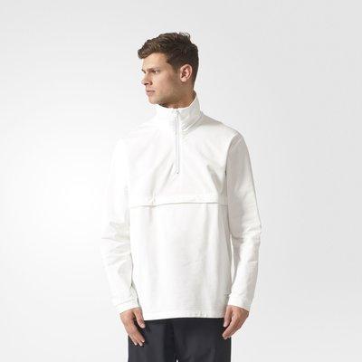 Adidas EQT Mock Neck Pullover BS4470 白色 立領 咬標 LOGO 運動 外套 上衣