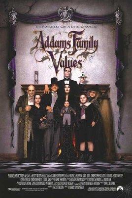 阿達一族2 (Addams Family Values) - 美國原版雙面電影海報 (1993年)