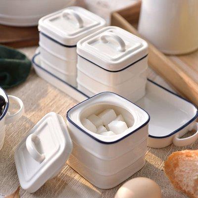 歐式陶瓷調味罐 居家家用餐廳調味料罐盒_☆優購好SoGood☆