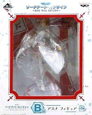 日本正版 一番賞 刀劍神域 SAO WILL RETURN B賞 亞絲娜 模型 公仔 日本代購