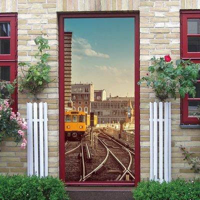 暖暖本舖 復古鐵路道路 整人樓梯貼 創...