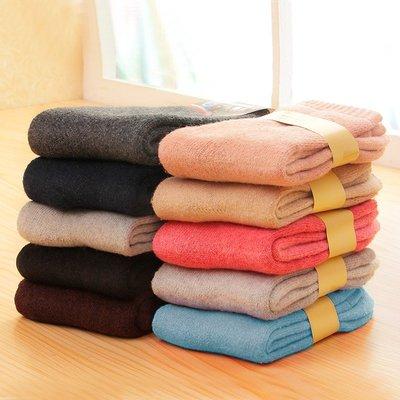 哈尼店鋪*冬季襪子女襪冬天加厚款中筒保暖襪毛圈加絨羊毛男優惠推薦