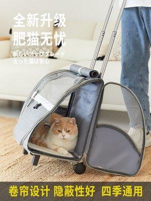 寵物背包ostracod大號貓包透氣雙肩大容量便攜帶背包貓咪外出包寵物拉桿箱