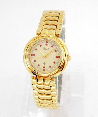 【 幸福媽咪 】網路購物、門市服務 TELUX 鐵力士 公司貨 璀璨晶鑽時尚女腕錶 722