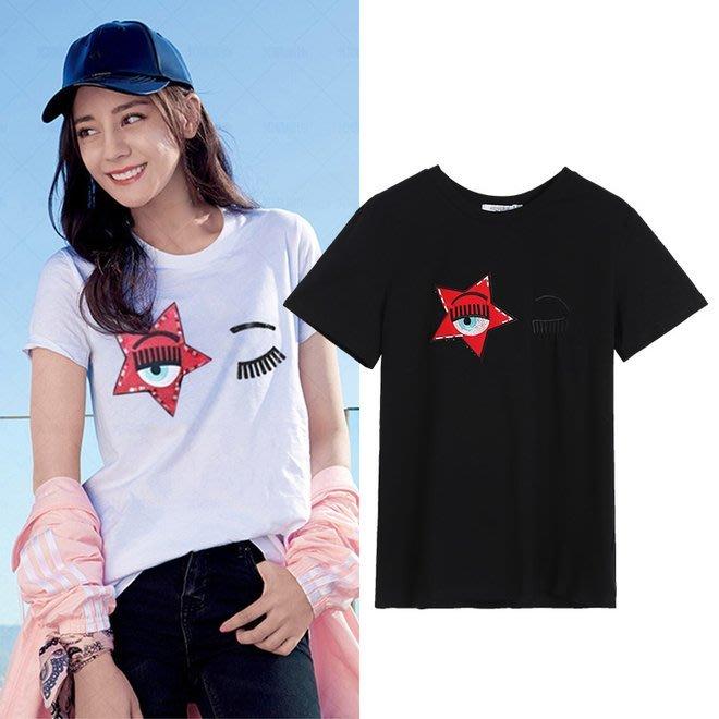 FINDSENSE G6 韓國時尚潮流 明星同款原宿風短袖T恤女裝上衣寬鬆星球體恤衣服短T