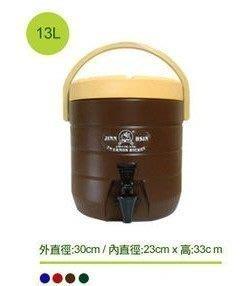 =傾奇電=營業用 13L不銹鋼內膽保溫桶/保冰桶/飲料桶/啤酒桶/不鏽鋼茶桶/不鏽鋼冰桶
