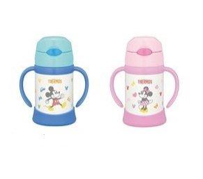 【魔法世界】THERMOS 膳魔師 不鏽鋼保冷保溫瓶 兒童雙耳學習杯 250ML 米奇/米妮/米菲兔