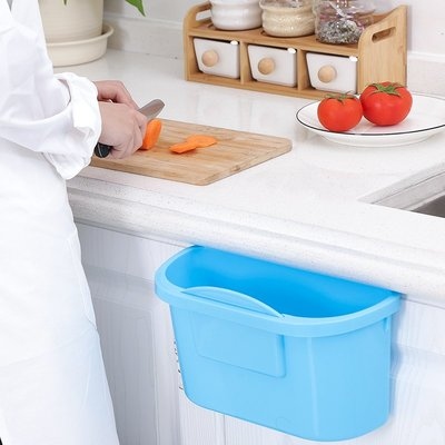 【berry_lin107營業中】家用廚房掛式小號垃圾桶小型桌面可愛床上垃圾創意迷你簡約長方形