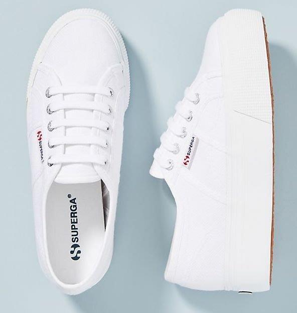 【BJ.GO】 SUPERGA 2790 ACOTW WHITE 經典白厚底運動鞋/限定款