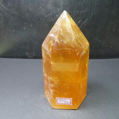 【競標網】天然3A酒黃冰洲水晶柱(K62)830克(網路特價品、原價1100元)限量一件