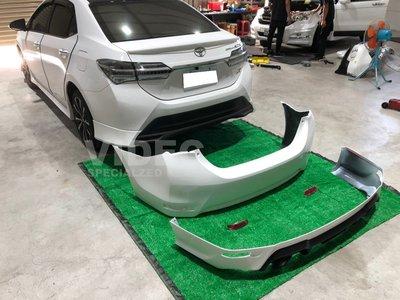 巨城汽車 17年 ALTIS 11.5代 X版 後保桿 改裝 後保桿 + RF 後下巴 含 雙出尾飾管 空力套件