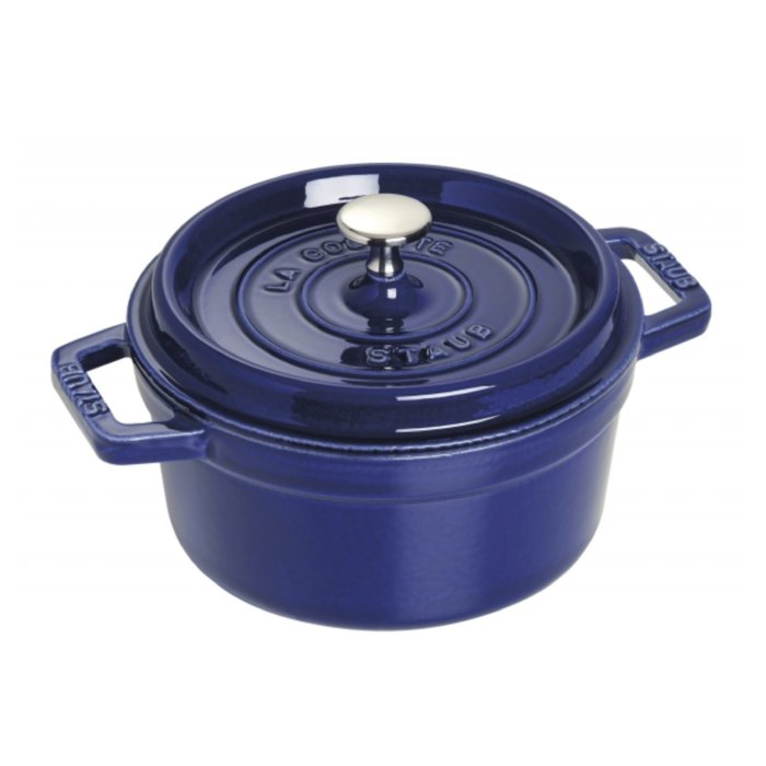 法國 Staub 26公分 圓鍋 鑄鐵鍋 寶石藍/石榴色/焦糖色/芥末黃