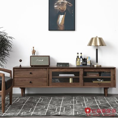 [紅蘋果傢俱]HM016 電視櫃 地櫃 視聽櫃 北歐風電視櫃 日式電視櫃 實木電視櫃 無印風 簡約風