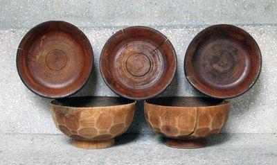 碗碟子盤子手工藝術品類木雕刻木器【心生活美學】