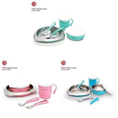 VIIDA-Soufflé抗菌不鏽鋼餐具組(湖水綠/甜心粉/寶貝藍)A01206