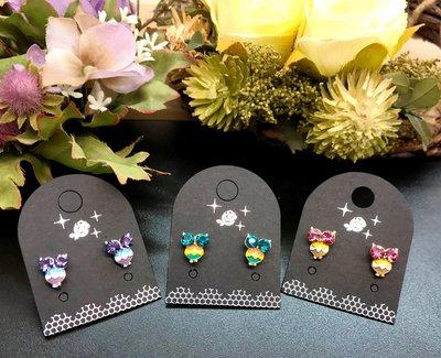 大眼迷你貓頭鷹貼耳耳環,多種顏色可挑選~最特別的禮物都在奧爾思~