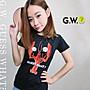 GW SIT DOWN PLEASE龍蝦新裝簡約黑色短袖T恤上衣獨家設計款男女中性 XS-3XL guesswhat