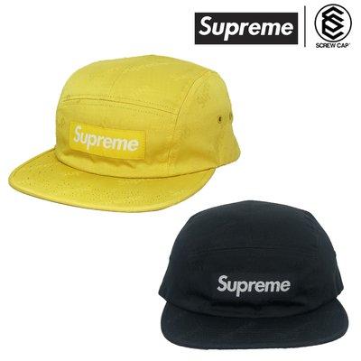 【ScrewCap】Supreme Jacquard logos twill Camp Cap 黃 / 黑 五分割 鴨舌