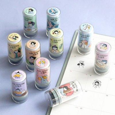 ❅PAVEE❅ 韓國iconic~ HARU Diary Stamp 日日好生活 黑色手帳裝飾連續印章