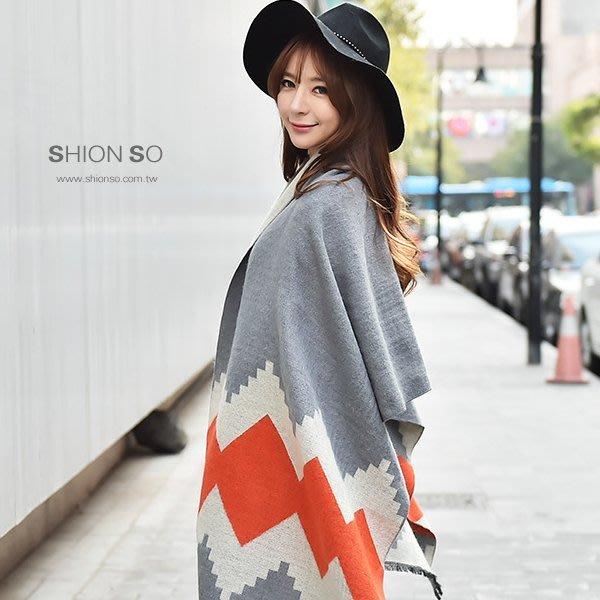 享瘦衣身中大尺碼【B4024】韓版波浪菱型毛絨圍巾
