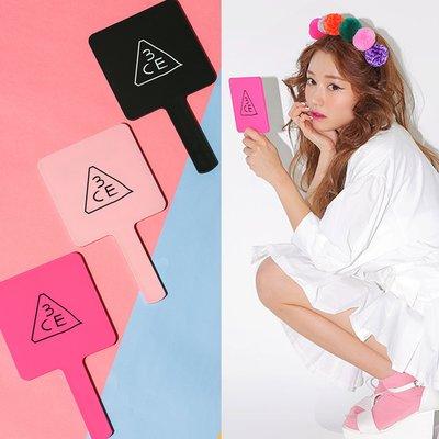粉色現貨【韓Lin連線代購】韓國 3CE - 小化妝鏡 MINI HAND MIRROR PINK RUMOUR