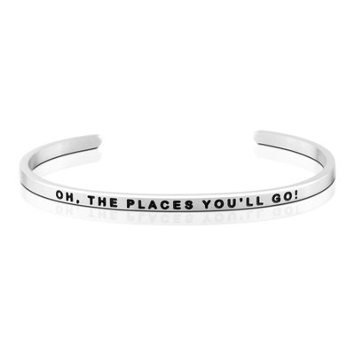 MANTRABAND 台北ShopSmart直營店 OH THE PLACES YOU WILL GO 銀色 勇敢去冒險