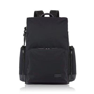 (缺貨中)免郵 TUMI 多功能 防水布面料配真皮 隔層多 輕量 大容量 電腦隔層 可放行李桿 耐磨 後背包 雙肩包 黑