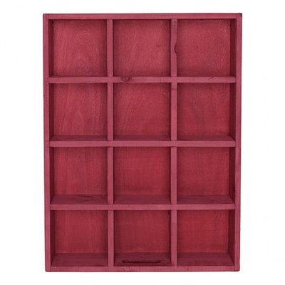 GreenGate Wood Storage Box Red with 12 Holes
