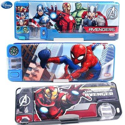 【預購】迪士尼文具盒 漫威蜘蛛人 美隊多功能讀書架鉛筆盒 小學生男文具筆袋