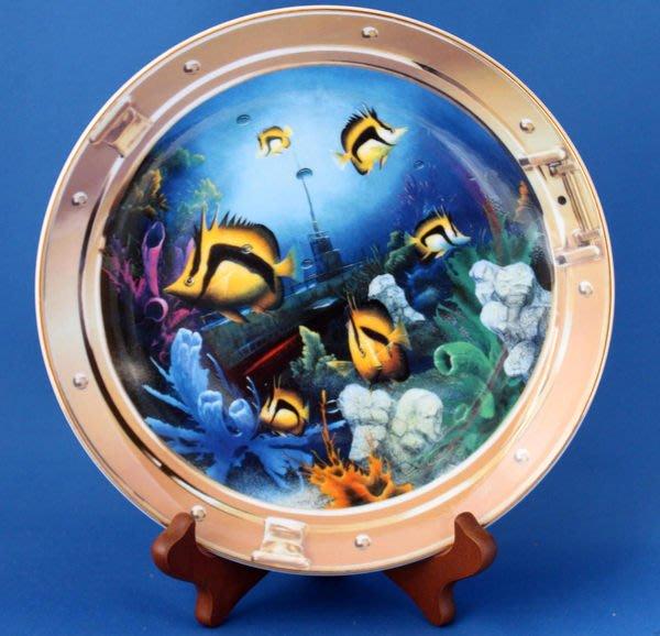 [美]英國百年名瓷Royal Doulton約1990年代骨瓷裝飾盤Mysteries of the Reef==非常美麗值得收藏唷..