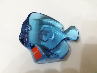 Baccarat Crystal Lucky Fish Blue