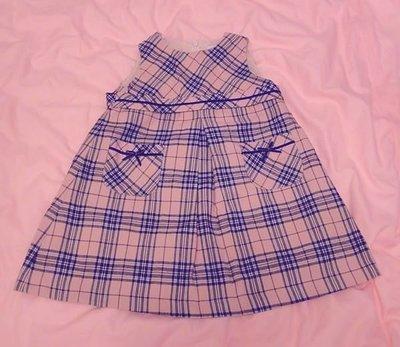 Anny Princess 安妮公主 75~85cm 粉紅 格紋 背心裙 附全長內裏
