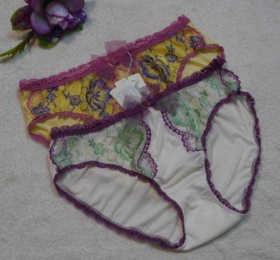 【奧黛莉】代言JUBILEE QUEEN 蕾絲繡花內褲【3804469】~M,L~白,黃~絲質褲~日本製